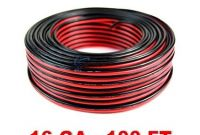 Cable and Gauge Clothing Sale Amazon Audiopipe 100 Feet 16 Ga Gauge Red Black 2 Conductor